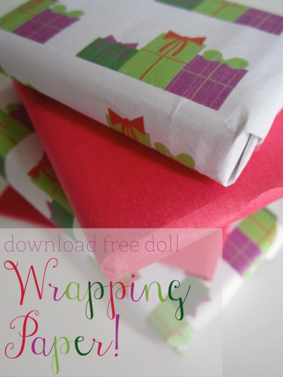 Doll Wrapping Paper