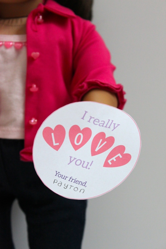Free Printable Valentines for Dolls