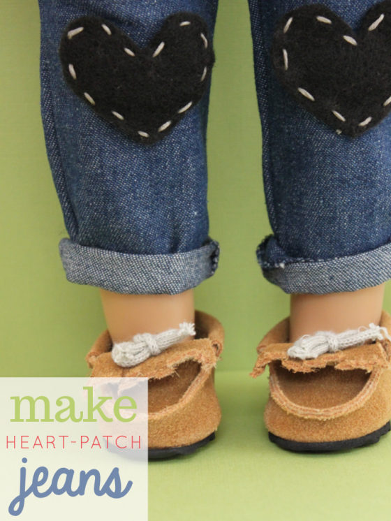 Make Heart Patch Jeans