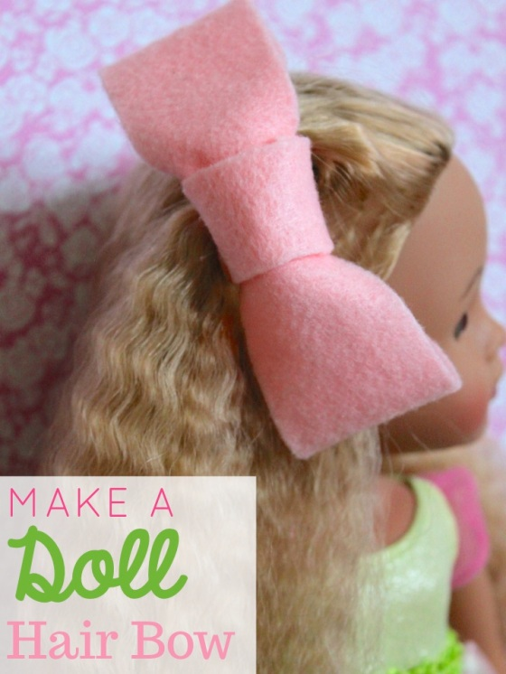 Make A Doll Hair Bow